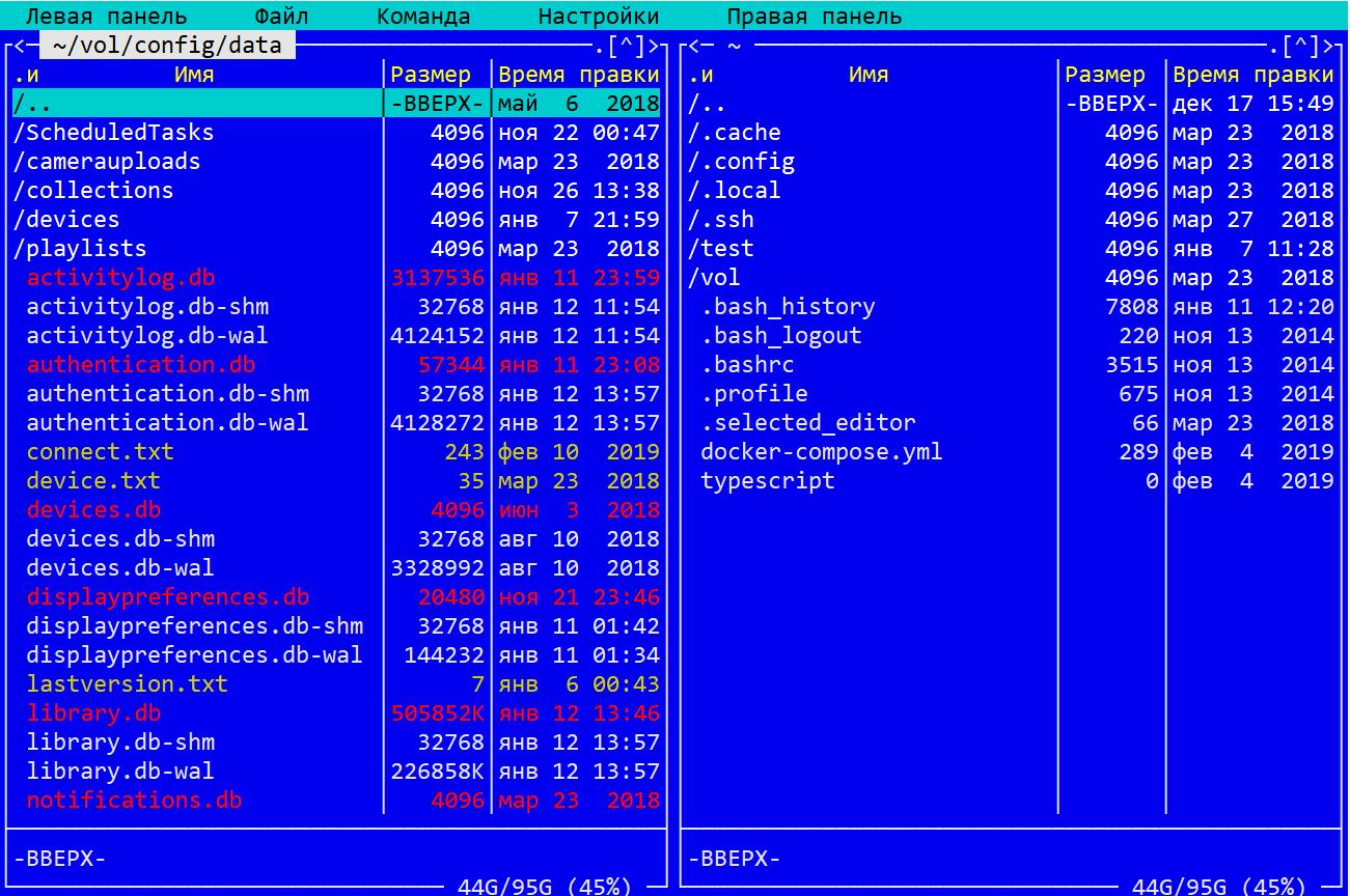 Содержимое каталога config/data